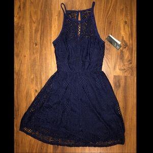 BCX Lace Dress - Navy - NWT